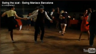Swing Maniacs dancing in the clip for Mercedes Sayas