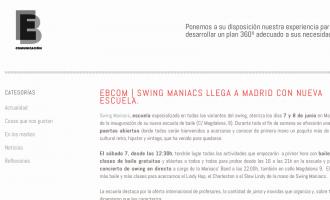 Inauguració de Swing Maniacs a Madrid