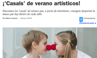 ¡'Casals' de verano artísticos!