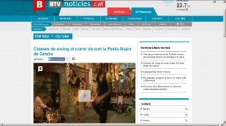 BTV - Classes de swing al carrer durant la Festa Major de Gràcia