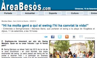 Área Besòs: 'Hi ha molta gent a qui el swing li ha canviat la vida!'