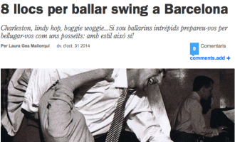 Time Out: '8 llocs per ballar swing a Barcelona'