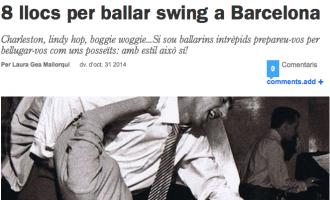 Time Out: '8 lugares para bailar swing en Barcelona'