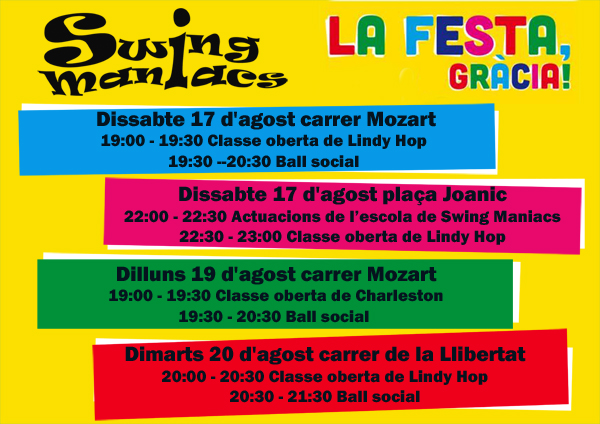 Eventos fiestas de gracia plaza joanic 17 08 2013 for Swing gracia