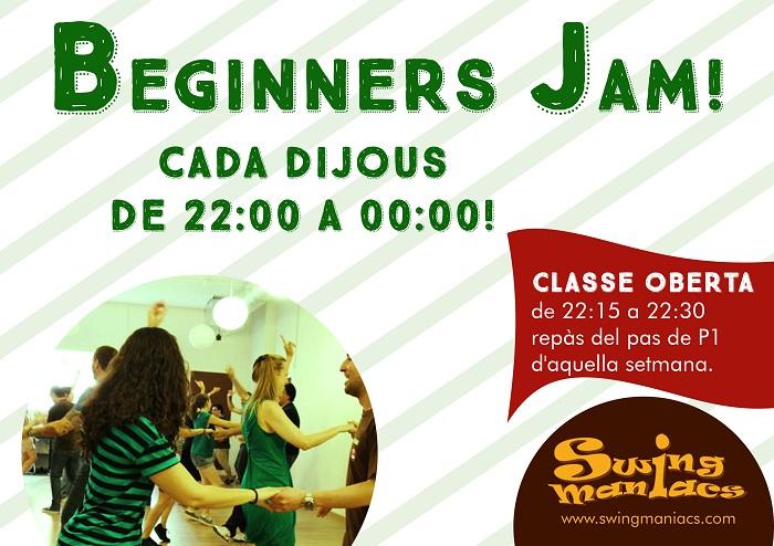 BEGINNERS JAM AMB CLASSE OBERTA DE REPÀS!