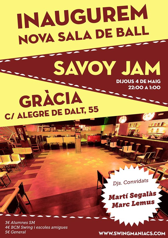 Inauguració nova sala de ball: SAVOY JAM!
