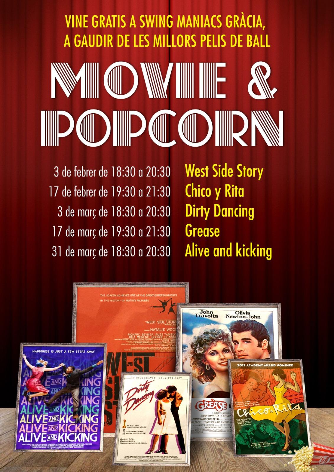 Movie Dance and Popcorn!