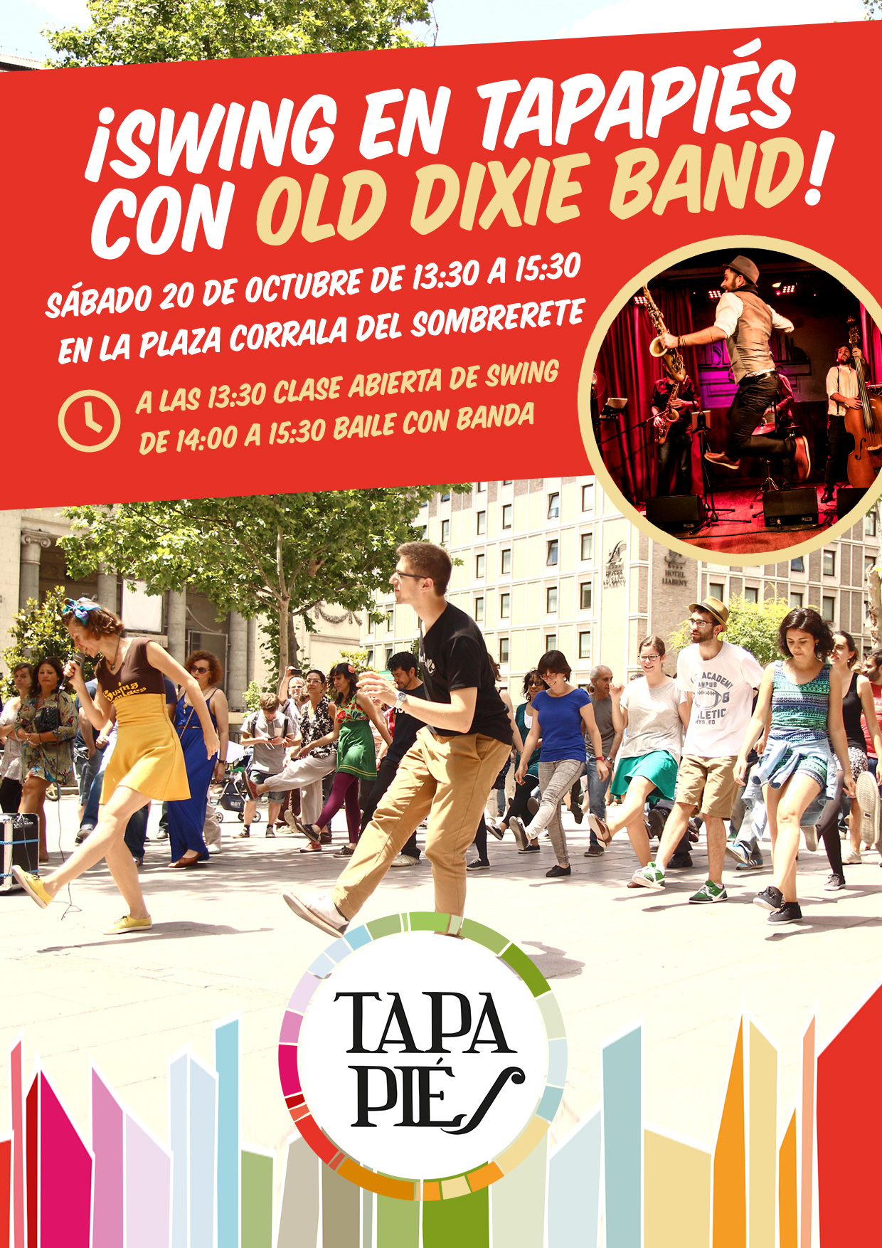 ¡Swing en Tapapiés con Old Dixie Band!
