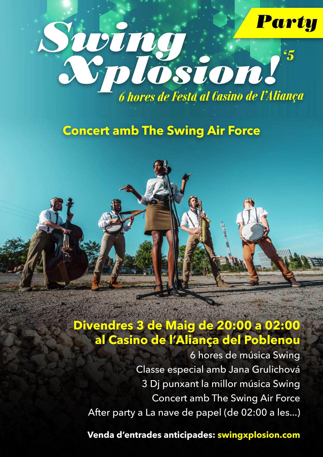 The Swing Xplosion Party! 6 hores de Festa al Casino de l'Aliança del Poblenou!