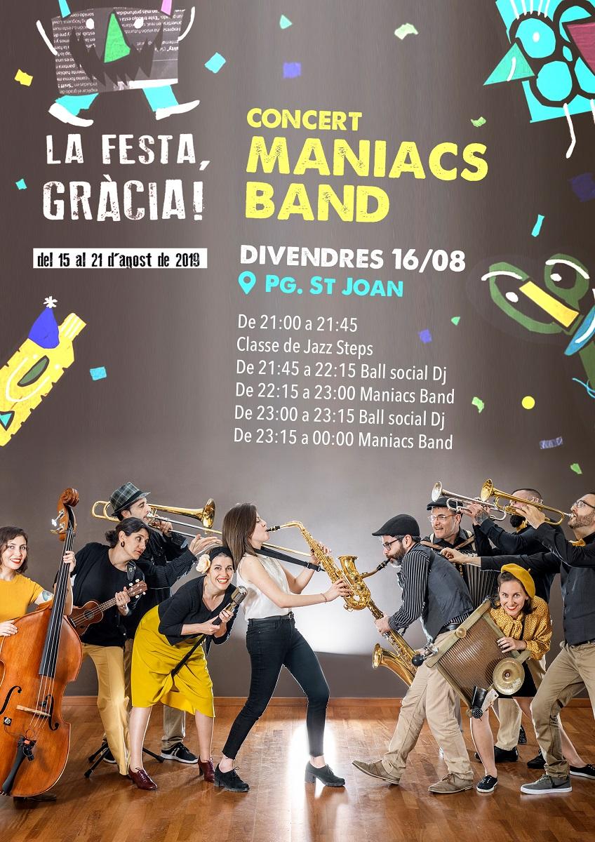 Ball al Passeig de Sant Joan amb la Maniacs Band!