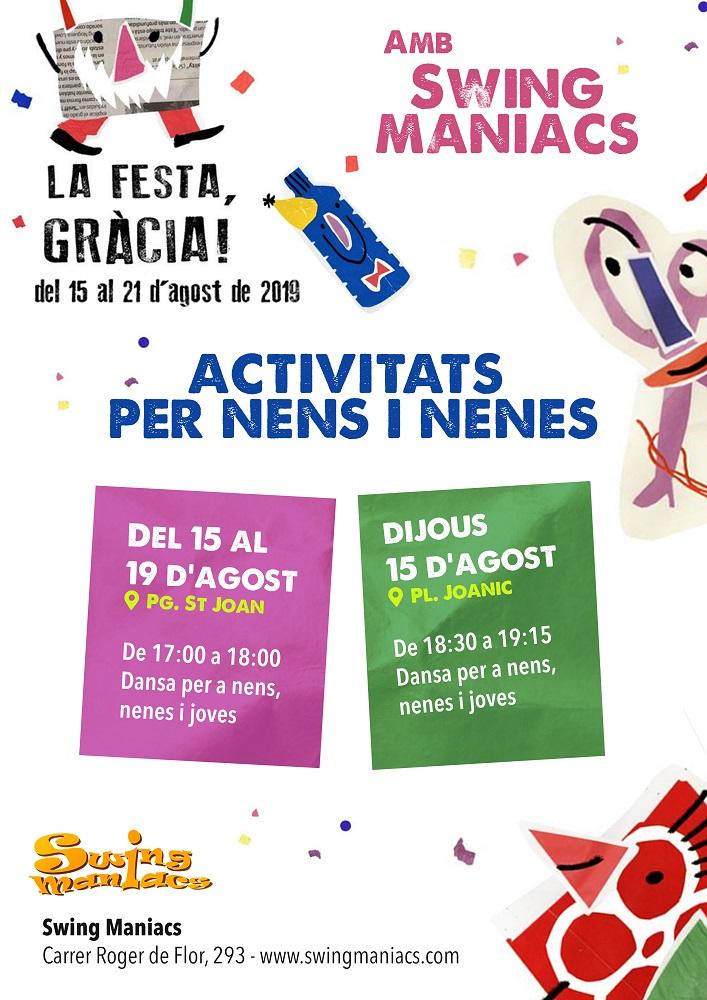 Dansa per a nens, nenes i joves a les Festes de Gràcia!