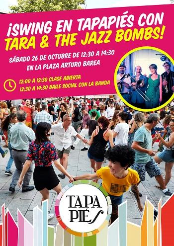 ¡Swing en Tapapiés con Tara & The Jazz Bombs!