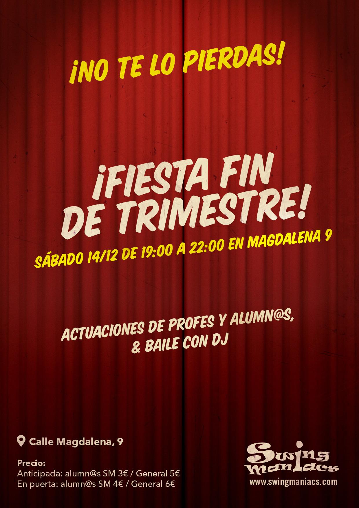 ¡FIESTA FIN DE TRIMESTRE!