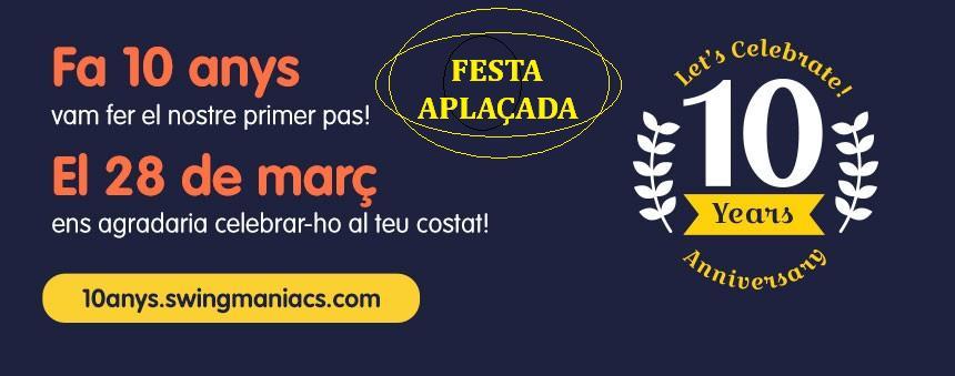 APLAÇADA FINS A NOVA DATA - FESTA X ANIVERSARI AMB MÚSICA EN DIRECTE!