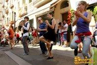 21/09/13 - Marching band de la Maniacs Band al Mercat de la Llibertat