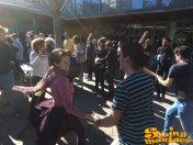 01/02/15 - Ballada de Swing davant de la Biblioteca Jaume Fuster